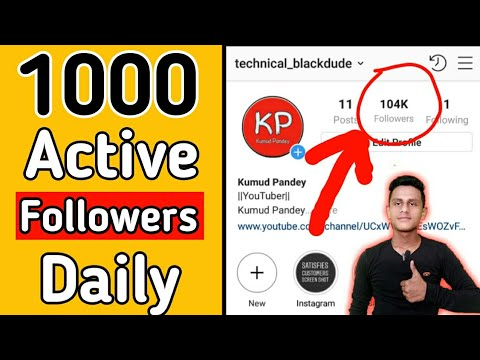 How to get 1000's of real followers for Instagram! 2018!!