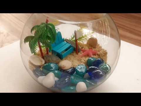 DIY Beach terrarium_Terrárium, Vivárium