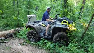 10. Can-Am Outlander XMR 1000 vs. Polaris Sportsman Highlifter 850 in a little friendly competition.