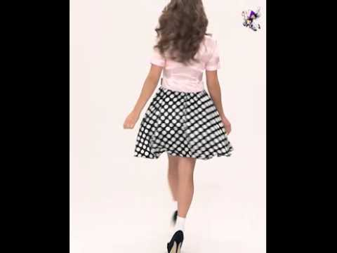 Adult 50s Rock n Roll Girl Costume (FS3627)