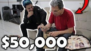 ¡LE REGALO $50,000 A MI PAPÁ por SORPRESA y ASÍ REACCIONÓ! *sentimental*