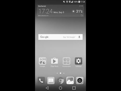 How to set black and white screen on lg g5