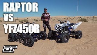2. 2019 Yamaha Raptor 700R and 2019 Yamaha YFZ450R Walk Around & Comparison
