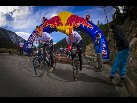 MTB downhill cycling race – Red Bull Road Rage 2013