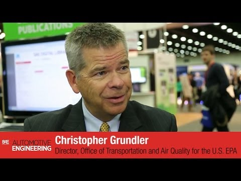 Christopher Grundler, Director of OTAQ-EPA, interview at SAE 2014 World Congress