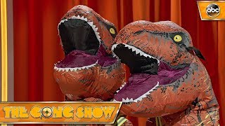 Watch this act, Dinosaur Decathalon, from The Gong Show. Celebrity Judges: Elizabeth Banks Will Forte Fred Arminsen Watch more acts on The Gong Show Thursday...