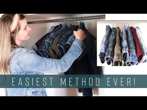 How to Hang Pants on a Hanger