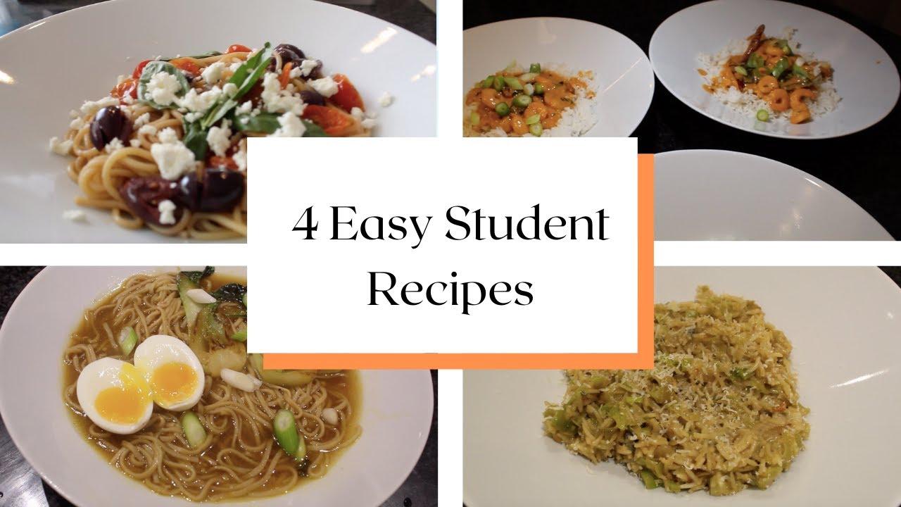 4 Easy Student Recipes