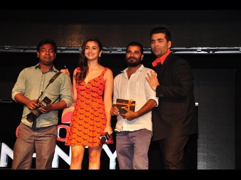 Alia Bhatt And Karan Johar At The Launch Of Colors Infinity Channel