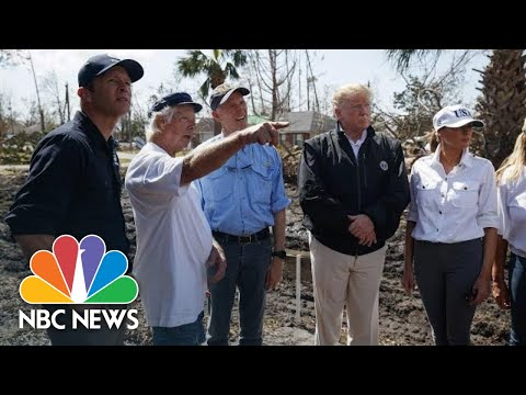 Scenes From President Donald Trump's Post-Hurricane Michael Visit To Florida And Georgia   NBC News
