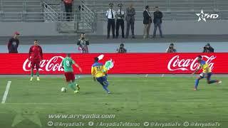 المغرب 2-2 الغابون هدف اللاعب نورالدين أمرابط من نقطة الجزاء في الدقيقة 69.  #مباراة_ودية_دولية