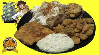 OMG , Fritz is Frying Fish AGAIN !!! and Shrimp with my Homemade Tartar Sauce ...