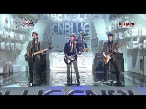 [HD] 130125 CNBLUE LaLaLa(with AOA 유나)@KBS Music Bank