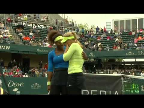 Serena Williams consoles injured Sabine Lisicki