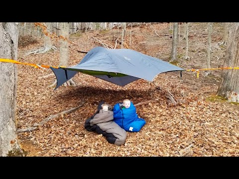 Hammock Tent Stealth Camping + Hammock Fire Pit