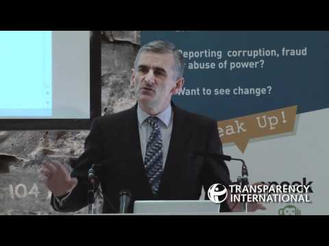 Bob Semple speaks at launch of event for Transparency International Ireland's Speak Up Helpline