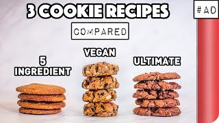 3 Cookie Recipes Compared (5 Ingredient vs Vegan vs ULTIMATE) by SORTEDfood