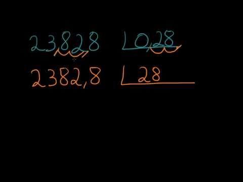 Aprender a divisão com dois números decimais