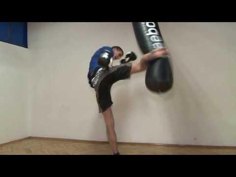 Vreća - kik boks trening (видео)