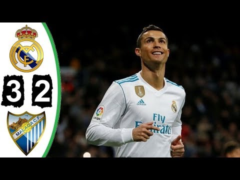Real Madrid-Malaga 3-2 - All Goals & Highlights - 25/11/2017 HD