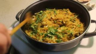 Spicy cabbage with green peas (বাধাকপি)