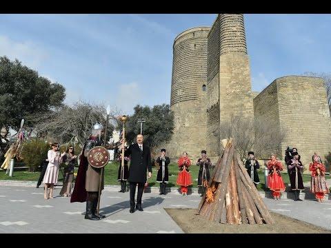 Prezident İlham Əliyev Novruz bayramı münasibətilə şənlikdə iştirak edib (видео)