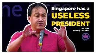 Video Singapore has a Useless President: Lim Tean Live @ Hong Lim Park MP3, 3GP, MP4, WEBM, AVI, FLV Mei 2019