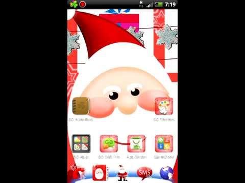Video of GO Launcher EX Santa Claus