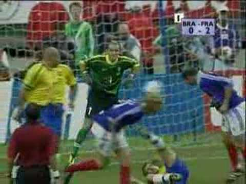 World Cup Final 1998 - France 3:0 Brazil. YouTube Preview Image