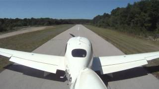 SR-22 short field 5 knots above Vref with a soft touchdown