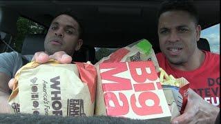 Eating Burger King Whoppers & Mcdonald's Big Macs @Hodgetwins