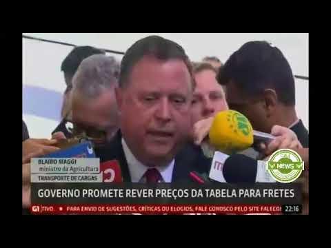 Globo News: Governo promete rever preços da tabela de fretes