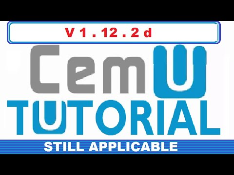 HOW TO PLAY WII U GAMES ON PC USING CEMU (WORKS WITH CEMU 1.12.2d)