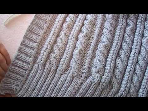 Вязания жилеток спицами видео