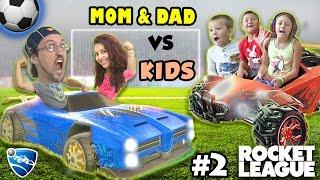 Let's Play Rocket League! PARENTS vs. KIDS - Match #2 (FGTEEV Family Gameplay)
