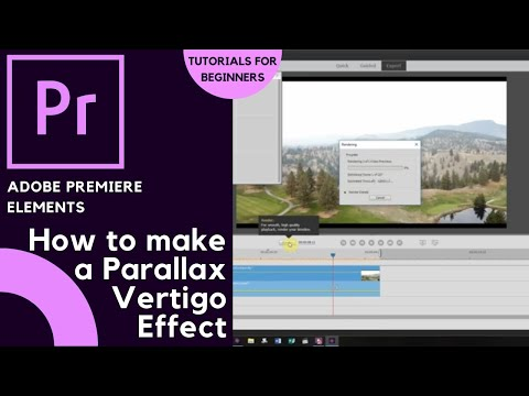 How to create a Parallax / Vertigo Effect in Adobe Premiere Elements 2019 | Thompson Tutorial