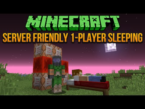 friendly - Minecraft Tutorial Playlist ▻ http://www.youtube.com/playlist?list=PLEB388783144C45A8 This video will show you how to build a contraption that lets 1 player sleep in a bed and change the...