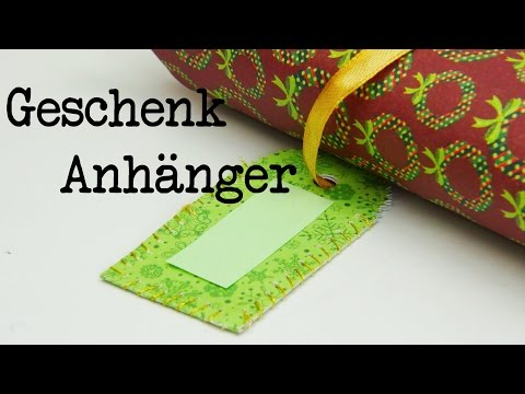 Geschenk Anhänger DIY | Namensanhänger für Geschenke selbst gestalten | deutsch