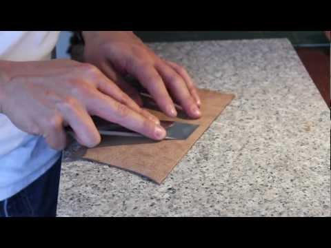 Cómo hacer una cartera de cuero / how to make a leather handbag: Desbaste / skiving