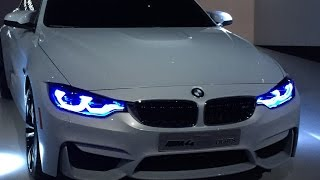 BMW showing off its impressive headlight technology.