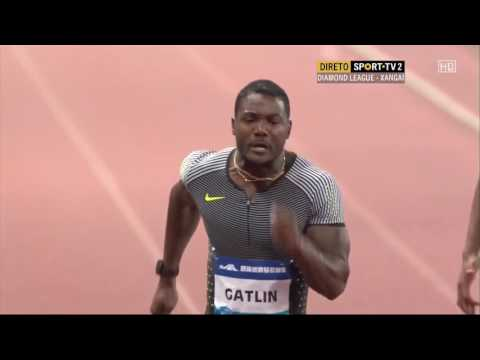 Justin Gatlin Side Camera Compilation