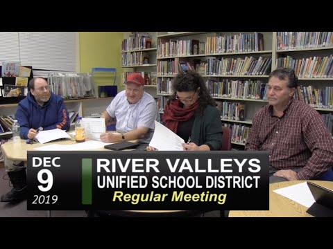 River Valley Unified School District (RVUSD) Board Mtg 12/9/19 видео