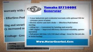 10. Yamaha EF7200DE Generator
