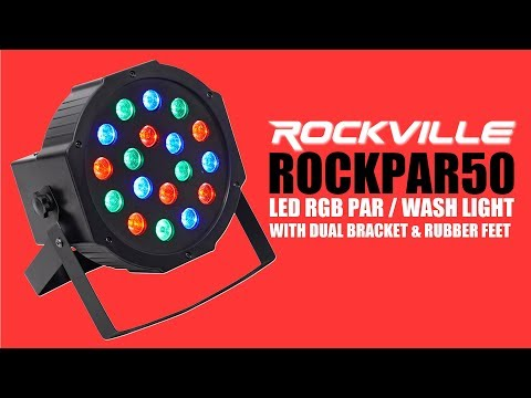 The Rockville ROCKpar50 is the only DMX Controllable Par / WASH LIGHT You'll need!