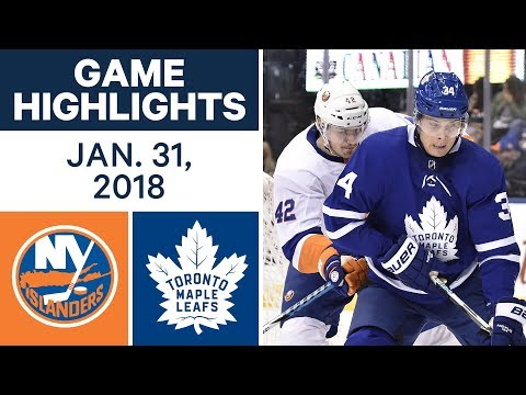 Video: NHL Game Highlights | Islanders vs. Maple Leafs - Jan. 31, 2018