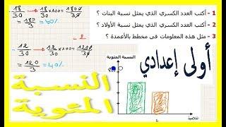 الرياضيات الأولى إعدادي - النسبة المئوية تمرين 16
