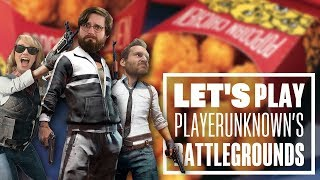 Let's Play PUBG gameplay with Johnny, Ian and Aoife - Popcorn Chicken?!