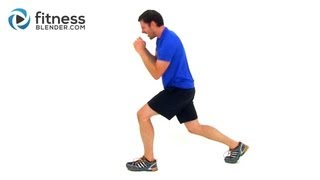 Lower Body HIIT for Strong Legs - Fitness Blender HIIT Man Workout