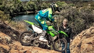 8. 2016 Kawasaki KLX 110 - off road motorcycle