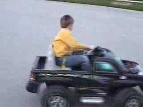 Gearhead's son enjoys modded Power Wheels ride